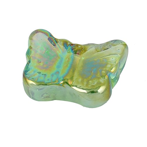 sourcingmap Forme de Papillon pour Aquarium à Poisson Rouge Cristal Perle Decor Pierre