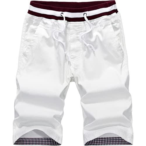 Pantalones de Pierna Recta Casuales Finos de Verano para Hombre Pantalones Sueltos cómodos al Aire Libre Moda Diaria con Pantalones Cortos con cordón 4XL