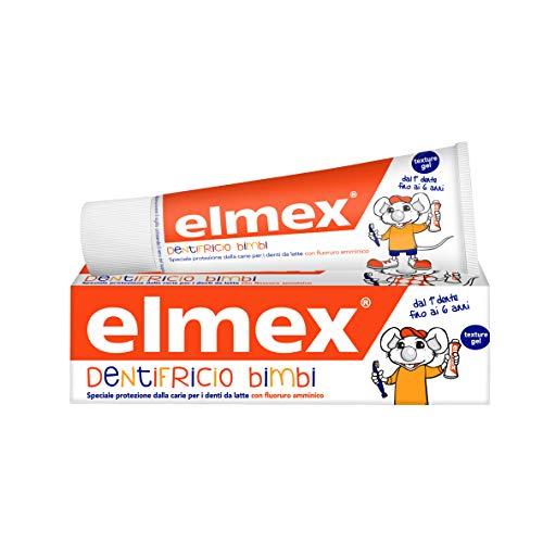 ELMEX, Dentifricio Bimbi 0-6 Anni, Dentifricio Per Bambini Con Concentrazione Ridotta di Fluoruro Amminico Per Proteggere I Denti Dei Bimbi, Anticarie, 0% Coloranti - 75 ml