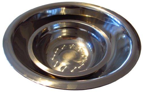 Edelstahl Salatschüssel-Set: 2 rostfreie Schüsseln (29 + 19 cm Durchmesser)