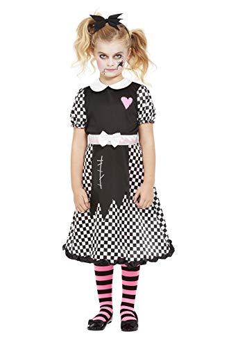 Smiffys Broken Doll Costume Disfraz de mueca rota, color negro, L-10-12 Years (63092L)