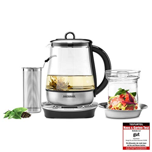 Gastroback 42438 Design Tea and More Advanced Automatischer Teekocher und Wasserkocher, Multifunktionsgarer