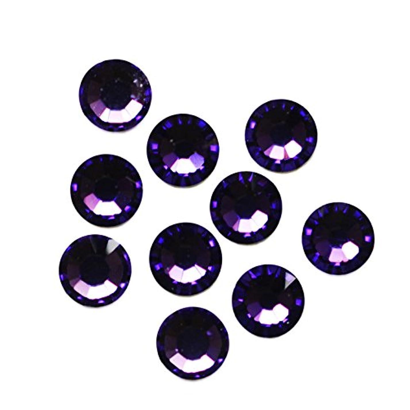 現像石膏グループスワロフスキーエレメント パープルベルベット /フラットバック ノンホットフィックス (ss12/40粒)