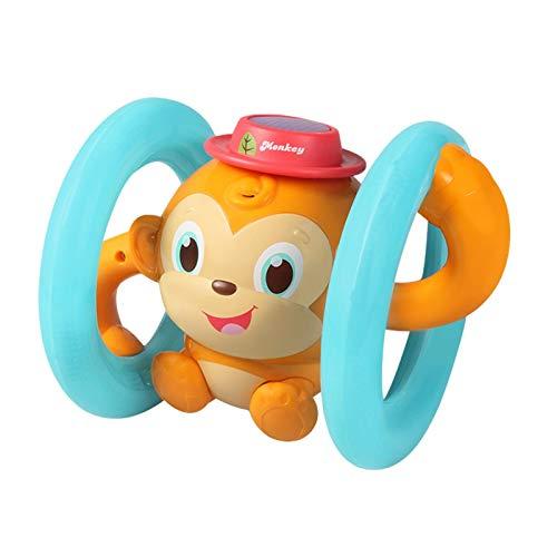Juguete electrónico basculante para monos, sonido eléctrico y luz, juguete para niños, activado por voz, cubo basculante con mando a distancia