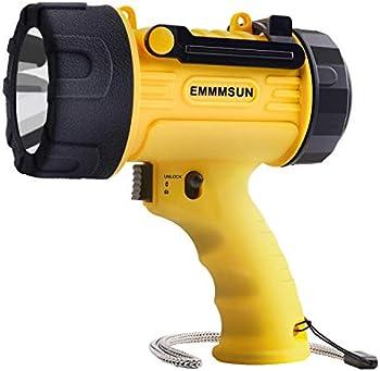Emmmsun Rechargeable Spotlight IP67 Waterproof Handheld Flashlight