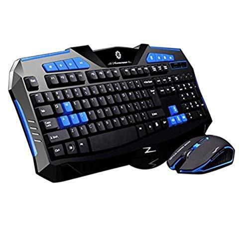 spier Juego de teclado y ratón para gaming, accesorios para...