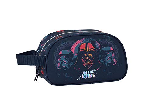 safta 812001248 Neceser, Bolsa de Aseo Adaptable a Carro Star Wars, Multicolor (Death Star)