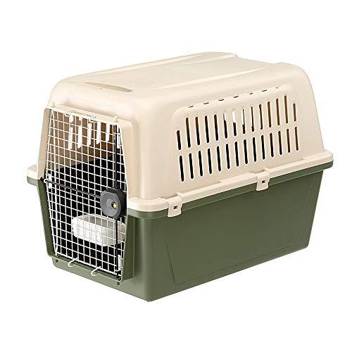 Ferplast 73049021 Transportbox Atlas Classic für Hunde, Maße 81 x 55,5 x 58 cm, grün