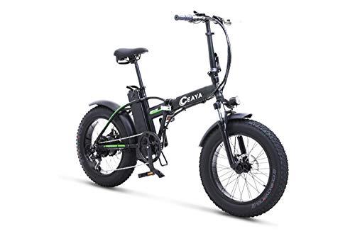 CeayaBicicletas eléctricas 48V Plegable - E-Bike 20', Actualizar Bici Electrica Urbana Ligera para Adulto