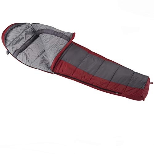 Wenzel Windy Pass 0 Degree Cold Weather Mummy Sleeping Bag for Adults, Stuff Sack Included