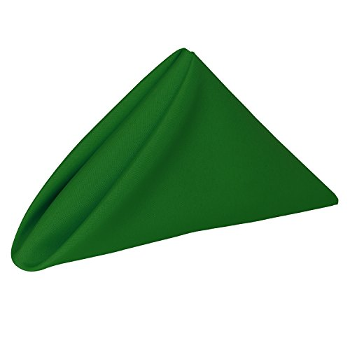 Ultimate Textile -1 Dozen- 17 x 17-Inch Polyester Cloth Napkins Emerald Green