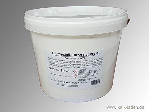 Natürliche Pferde-Stall-Farbe ohne jegliche schädliche Substanzen. Ausreichend für ca. 50 qm Wandfläche. Aus naturbelassenen Mineralien und nachwachsenden, organischen Wirkstoffen.