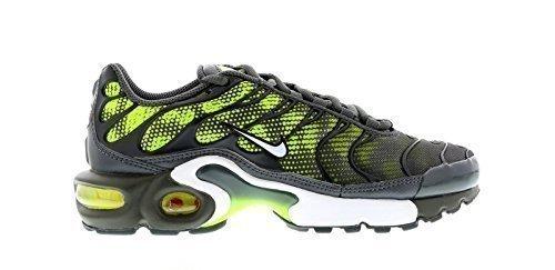 Nike Air Max Plus (GS), Laufschuhe für Jungen, Grau - Dark Grey/Volt/Dark Grey/White - Größe: 39 EU
