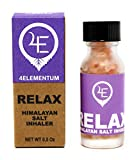 4Elementum Relax Himalayan Salt Inhaler, Essential Oil Aromatherapy Inhaler, Pink Smelling Salt Inhalers Calm And Relaxation, Rest Easy With Smelling Salts