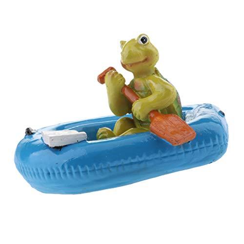 Schildkröte Schwimmfigur für Garten, Teich, fishpond, schwimmende Dekoration des Brunnenwassers - 5# Blaue Boot Schildkröte