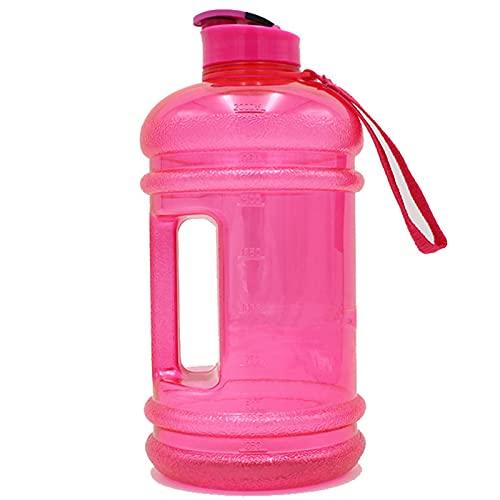 Jiaojie Botella de agua fría de gran capacidad portátil 2.2L botella de agua para deportes al aire libre