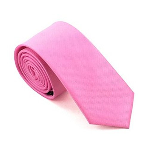 Jason &vogue cravate slim design étroit jaquardgewebt 5,5 cm (rose)