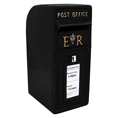 Briefkasten im englischen Stil Postkasten schwarz Wandbriefkasten Standbriefkasten Post Box Gusseisen
