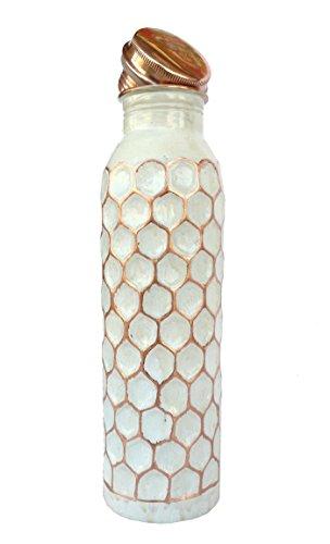 Rastogi bricolage Noir, Blanc Diamant Forme de découpe Joint moins en cuivre pur Bouteille d'eau Contenance 950 ml blanc