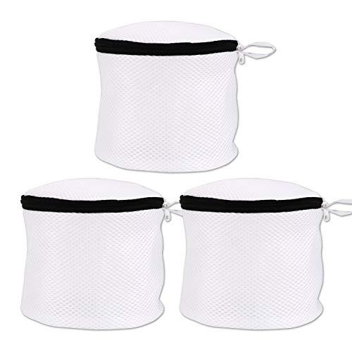 flintronic BH-Wäschebeutel, Wiederverwendbare Wäschesack mit Reißverschluss, für BHS, Kleidung, Socken, und Baby Kleidung Usw, 3er Set - Schwarze