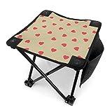 Mu You Ben Klappstuhl Hocker Camp Valentinstag Romantik Sweet Happin Love Design Leichte Camping Hocker für Camping Angeln Wandern Reisen