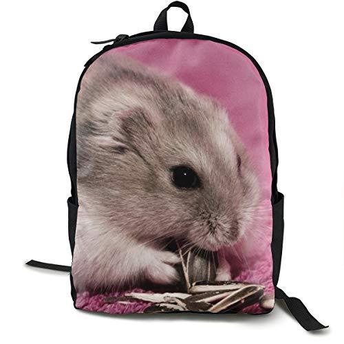 Rucksack, Schule, Laptop, Tagesrucksack, Büchertasche, Reisen, Wandern, Camping, Tagesrucksack, Hamstersamen, Futtermatte