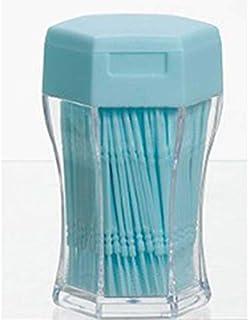 200ピース/セットダブルヘッド歯フロス衛生デンタルフロスプラスチック歯間つまようじ健康用歯のクリーニングオーラルケア(Color:blue)