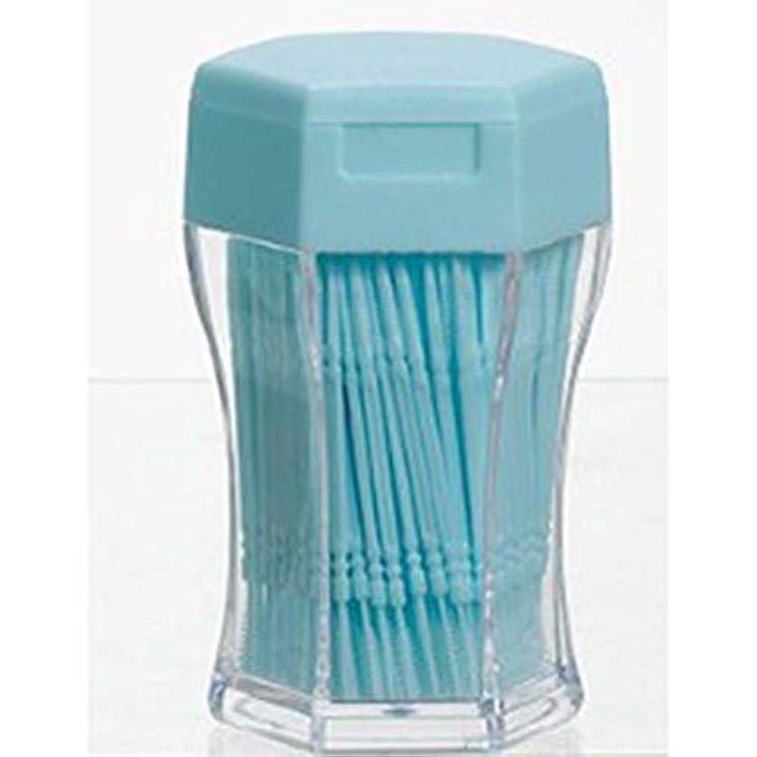 絶妙救い争う200ピース/セットダブルヘッド歯フロス衛生デンタルフロスプラスチック歯間つまようじ健康用歯のクリーニングオーラルケア(Color:blue)