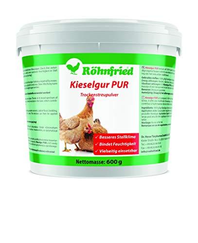 Röhnfried - Kieselgur PUR (600 g) - Naturreine Kieselerde in Pulver-Form - für ihren Hühnerstall, Kaninchenstall, Garten & Haus - gut bei Kaninchen, Hühnern & Geflügel einsetzbar