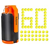 Ruibytree CS Plastic Tactical Toy, Tactical Plastic Modified Crystal Water Bullet Toy with 60PCS Rounds Refill Bullet Balls Ammo - (Orange)
