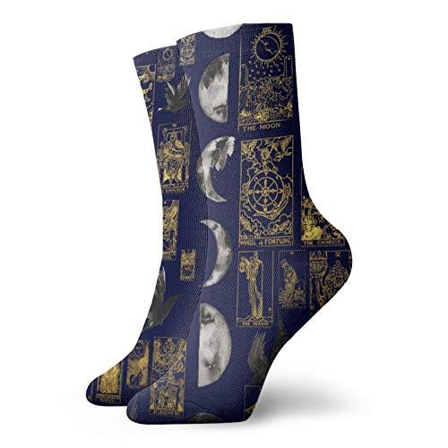 Rajfoo 1235 - Calcetines personalizados para deporte, calcetines deportivos de 30 cm para hombre y mujer