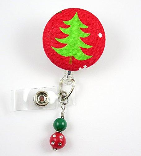 Christmas Tree Light Green- Nurse Badge Reel - Retractable ID Badge Holder - Nurse Badge - Badge Clip - Badge Reels - Pediatric - RN - Name Badge Holder