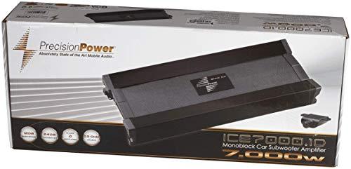 Precision Power ICE7000.1D Black Ice Series 7000W Class D Monoblock Amp