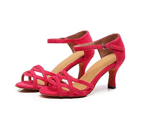 WDRSY Zapatos De Baile Latino Zapatos De Baile Latino para Mujer Zapatos De Baile De Salón De Satén De Fondo Suave Zapatos De Baile-A_41