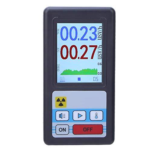 Dosímetro Beta Gamma Probador de rayos X LCD Digital Geiger Counter Detector de radiación nuclear para inspección de materiales, prueba ambiental, protección radiológica(Negro)