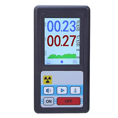 Compact Digital Geiger Counter – Portable LCD Digital Geiger Counter Nuclear Radiation Detector Dosimeter Beta Gamma X-ray Tester(Black cover)