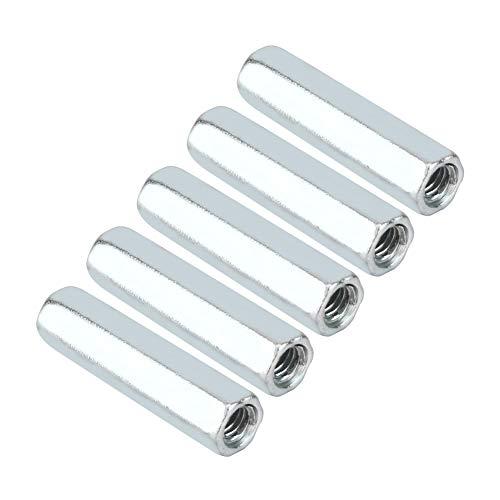 Tuerca de barra hexagonal larga de acero al carbono chapado en acero al carbono, tuercas galvanizadas de carbono de acero al carbono