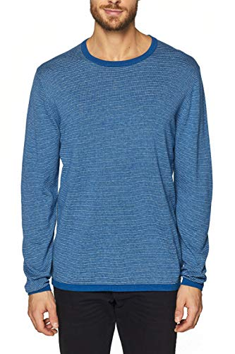ESPRIT Herren 029EE2I007 Pullover, Blau (Blue 430), Small (Herstellergröße: S)