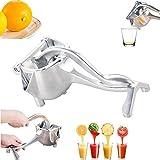 SWARG Stainless Steel Manual Juicer Alloy Fruit Hand Squeezer Heavy Duty Lemon Orange Juicer Manual Fruit Press Squeezer Fruit Juicer Extractor Tool 1 Pack
