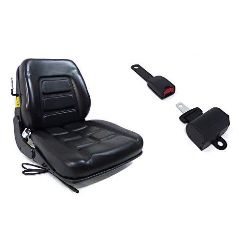 Sedile con Molleggio Incorporato + Cintura con Arrotolatore per Trattore Cingolato e Carrello Elevatore cod. 38026