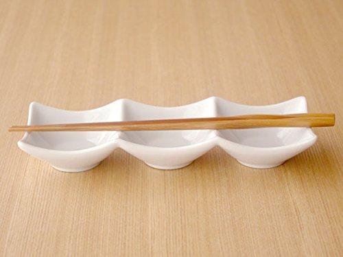 ホワイト スクエア三品皿