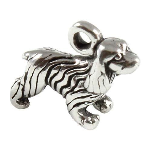 Ciondolo in argento sterling a forma di cane Cocker Spaniel