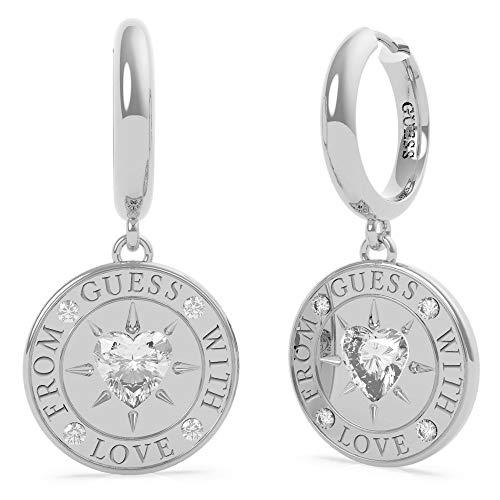 GUESS GUESS Ohrringe mit Liebe aus UBE70026 Edelstahl. rhodiniert Herz-Ring Swarovski Währung