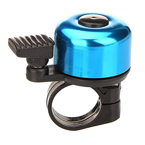 RENCALO Alarma de Sonido de Campana de Manillar de Anillo de Metal para Bicicleta Bicicleta-Blue