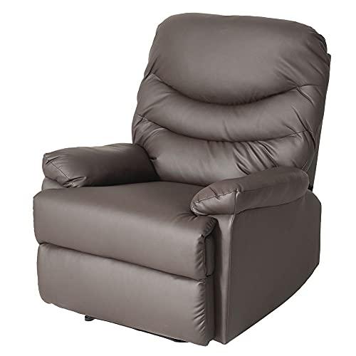 Sillón reclinable reclinable ajustable sofá marrón PU