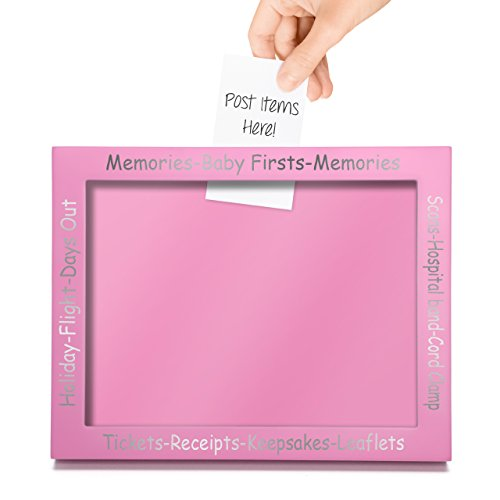 CKB LTD® Rose Pink Display Frame for Baby First Memories Keepsakes - Cadre Photo Deco Bébés Premiers Souvenirs Cadre Souvenir Boîte d'affichage - Grossesse Parfaite ou Nouvelle Naissance - Cadeau