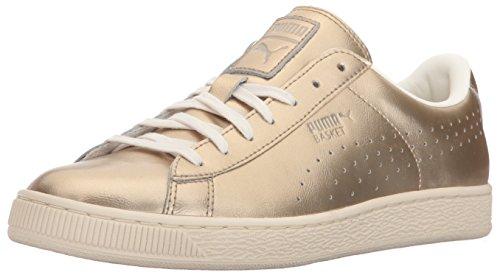 PUMA Basket Classic Citi Metallic Wn's Fashion Sneaker da donna, oro (Argento dorato sussurro), 36.5 EU
