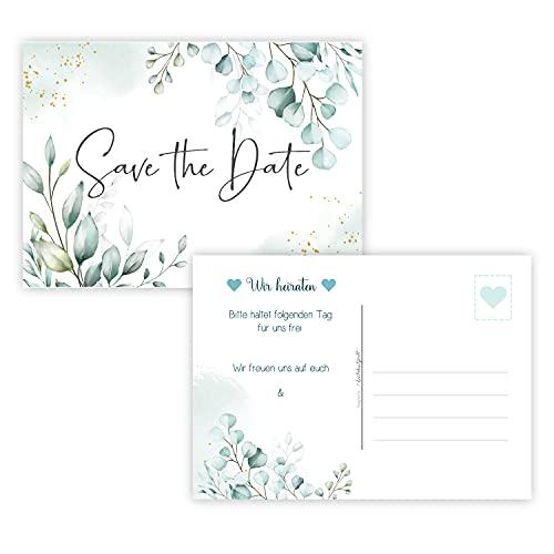 25 Save the Date Karten Hochzeit Wedding Hochzeitsleinladungen Terminplanung Hochzeitsfeier...