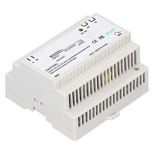 DR-100-12 DR-100-24 Fuente de Alimentación de Conmutación de Carri de Entra CA de Rango Universal Multifuncional, Fuente de Alimentación Regulada Ajustable LED Controlador Industrial(DR-100-12)