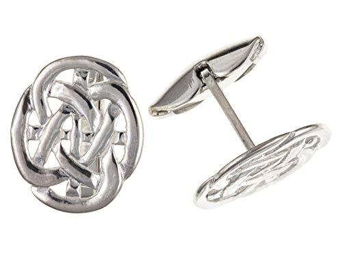 Irisch keltische Infinity Knoten Stil Manschettenknöpfe oval 925Sterling Silber–Lieferung erfolgt in Geschenkbox oder Geschenkbeutel